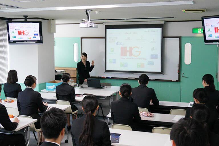 世界有数のホテルグループ「ANAインターコンチネンタルホテル東京」 学内企業説明&選考会を開催