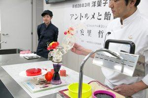 日本代表のパティシエが来校!北海道洋菓子協会主催の講習会を本校で開催しました