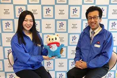 【You Tube配信中】2017冬季アジア札幌大会 札幌市長ビデオメッセージMCに在校生が挑戦