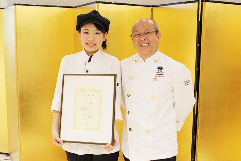 【祝】北海道洋菓子コンテストで製菓学科1年生が『釧路洋菓子協会 会長賞』を獲得しました!